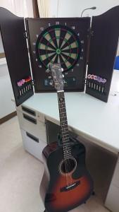 ダーツ、ギター寄付品