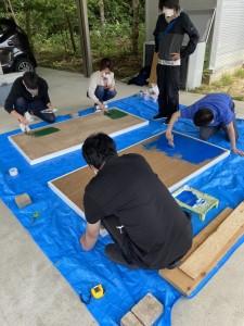 卓球台施工2